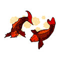 Retro cartoon fish Royalty Free Stock Images