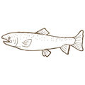 Retro cartoon fish Stock Images