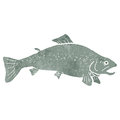 Retro cartoon fish Stock Image