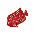 Retro cartoon fish Stock Photos