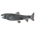 Retro cartoon fish Royalty Free Stock Photo