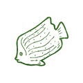 Retro cartoon fish Stock Photo
