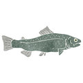 Retro cartoon fish Royalty Free Stock Photography