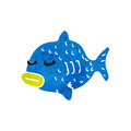 Retro cartoon fish Stock Photography