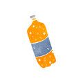 Retro cartoon fizzy drinks bottle Stock Photography
