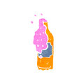 Retro cartoon fizzy drinks bottle Stock Photo