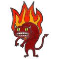 Retro cartoon flaming devil Royalty Free Stock Photos