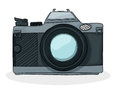 Retro cartoon foto camera style photo drawing over white background Royalty Free Stock Photography