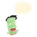 Retro cartoon frankenstein monster head Royalty Free Stock Images