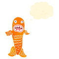 Retro cartoon funny fish Royalty Free Stock Image