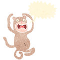 Retro cartoon funny monkey Royalty Free Stock Images