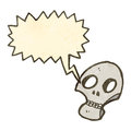Retro cartoon graffiti style shrieking skull Stock Photography
