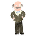 Retro cartoon grandfather Royalty Free Stock Image