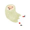 Retro cartoon halloween ghost costume Stock Photography
