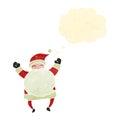 Retro Cartoon Jolly Santa Claus