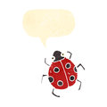 Retro cartoon ladybug Stock Photos