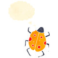 Retro cartoon ladybug Stock Photography