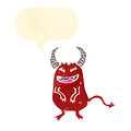 Retro cartoon little devil Royalty Free Stock Image