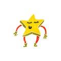 retro cartoon little star creature Royalty Free Stock Photo
