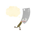 Retro cartoon meat cleaver Royalty Free Stock Photos