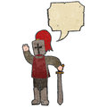 Retro cartoon medieval knight Royalty Free Stock Photography