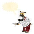 Retro cartoon medieval man shouting Stock Photography