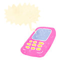 Retro cartoon mobile phone Royalty Free Stock Image