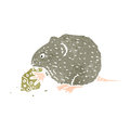 Retro cartoon mouse nibbling mouse Royalty Free Stock Image