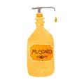 retro cartoon mustard pot Royalty Free Stock Photo