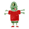 Retro cartoon mutant man Royalty Free Stock Photos