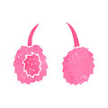 Retro cartoon pink ear muffs Royalty Free Stock Images