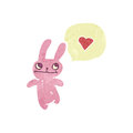 Retro cartoon pink rabbit Royalty Free Stock Photos