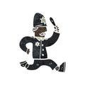 retro cartoon policeman giving chase