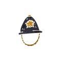 retro cartoon policeman's helmet