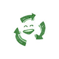 Retro cartoon recycling symbol Royalty Free Stock Image