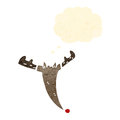 Retro cartoon reindeer head Royalty Free Stock Image