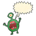 Retro cartoon roaring monster Royalty Free Stock Images