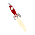 Retro cartoon rocket Royalty Free Stock Images