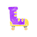 Retro cartoon roller boot Royalty Free Stock Photo