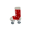 Retro cartoon roller boot Royalty Free Stock Images