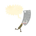 Retro cartoon running meat cleaver Royalty Free Stock Photos