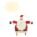 Retro cartoon santa claus Royalty Free Stock Images