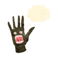 Retro cartoon scary zombie hand Royalty Free Stock Images