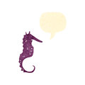 Retro cartoon seahorse Royalty Free Stock Images