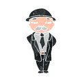 Retro cartoon sensible businessman Stock Photo