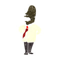 Retro cartoon sensible businessman illustration on plain white background Royalty Free Stock Photo