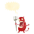 Retro cartoon shouting devil Royalty Free Stock Photos