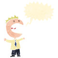Retro cartoon shouting man Royalty Free Stock Images