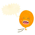 Retro cartoon shrieking balloon Royalty Free Stock Photography