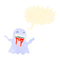 Retro cartoon shrieking ghost Stock Photo